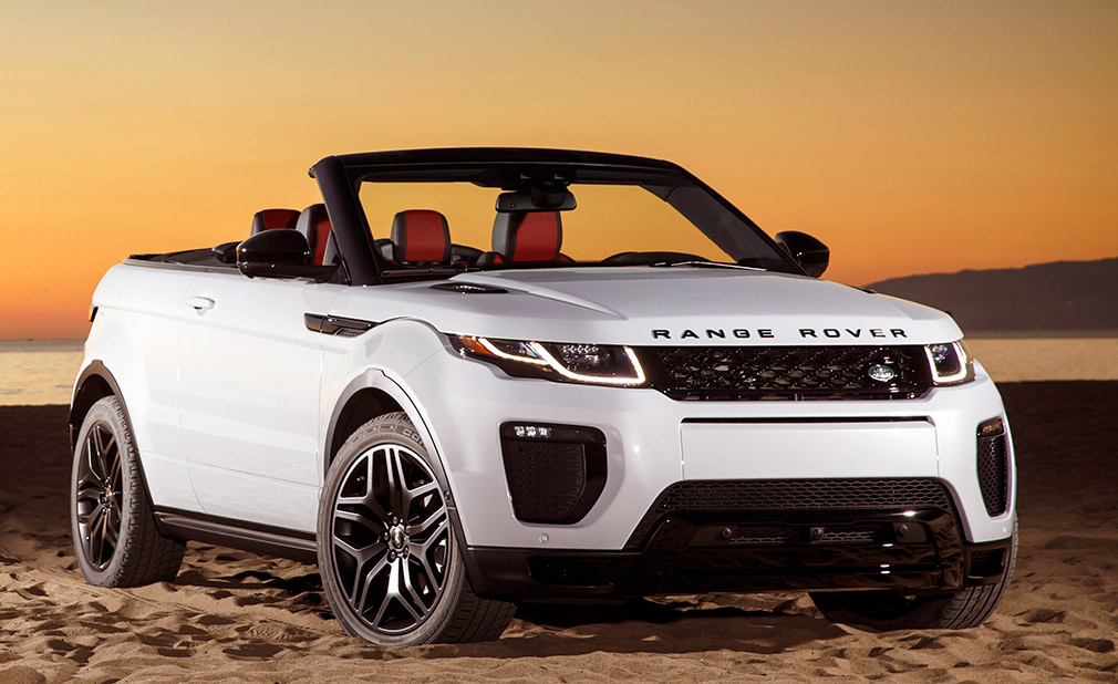 louer un range rover evoque d capotable blanc pour votre. Black Bedroom Furniture Sets. Home Design Ideas